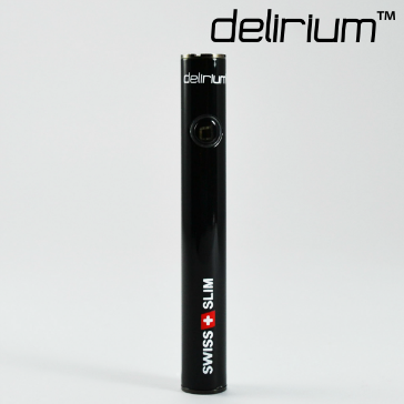 ΜΠΑΤΑΡΙΑ - delirium Swiss & Slim 400mAh Υψηλής ποιότητας μπαταρία ( ΜΑΥΡΟ ΜΕΤΑΛΛΙΚΟ )