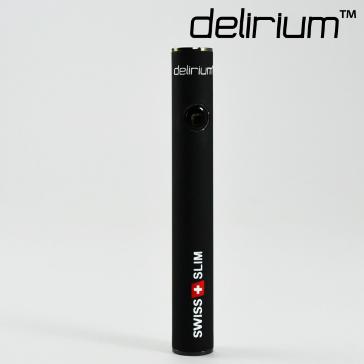 ΜΠΑΤΑΡΙΑ - delirium Swiss & Slim 400mAh Υψηλής ποιότητας μπαταρία ( ΜΑΥΡΟ ΛΑΣΤΙΧΕΝΙΟ )
