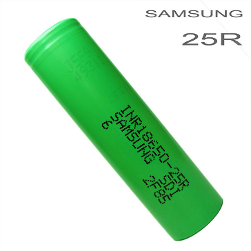 ΜΠΑΤΑΡΙΑ - SAMSUNG INR 25R 18650 2600mAh Rechargeable Flat Top Battery