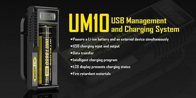 ΦΟΡΤΙΣΤΗΣ - Nitecore UM10 External Battery Charger