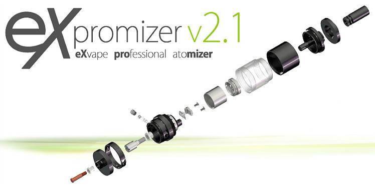 ΑΤΜΟΠΟΙΗΤΉΣ - eXvape eXpromizer V2.1 RBA/RTA ( Brushed Steel )
