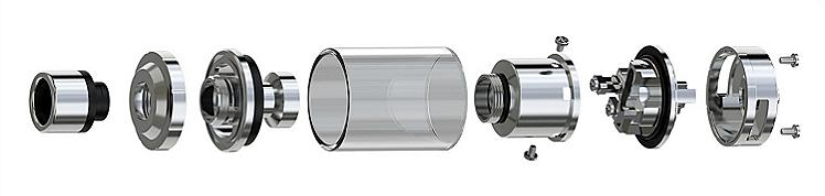 ΑΤΜΟΠΟΙΗΤΉΣ - Eleaf Lemo 3 Rebuildable & Changeable Head Atomizer ( Stainless )