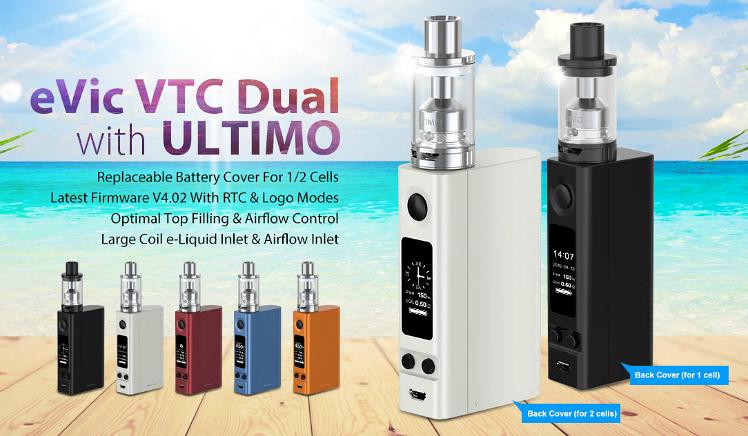 KIT - JOYETECH eVic VTC Dual Full Kit ( White )