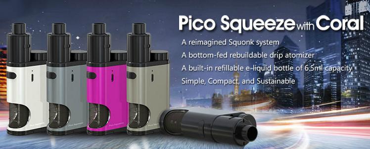 ΚΑΣΕΤΙΝΑ - ELEAF Pico Squeeze 50w FULL KIT ( RED )