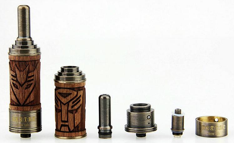 ΑΤΜΟΠΟΙΗΤΉΣ - VISION X.Fir Desire BDC Atomizer με ξύλινο περίβλημα & ρυθμιζόμενη ροή αέρα / 1.8 ohms / 2ML Χωρητικότητα - 100% Αυθεντικός