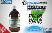 D.I.Y. - 500ml HEXOcell eLiquid Base (50% PG, 50% VG, 16mg/ml Nicotine) εικόνα 1