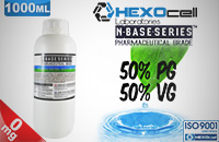 D.I.Y. - 1000ml HEXOcell eLiquid Base (50% PG, 50% VG, 0mg/ml Nicotine) εικόνα 1