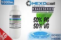 D.I.Y. - 1000ml HEXOcell eLiquid Base (50% PG, 50% VG, 16mg/ml Nicotine) εικόνα 1