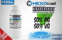 D.I.Y. - 1000ml HEXOcell eLiquid Base (50% PG, 50% VG, 32mg/ml Nicotine) εικόνα 1