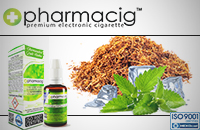 30ml TOBACCO & MINT 18mg eLiquid (With Nicotine, Strong) - eLiquid by Pharmacig εικόνα 1