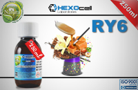 250ml RY6 18mg eLiquid (With Nicotine, Strong) - Natura eLiquid by HEXOcell εικόνα 1