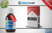 250ml MAXBORO 9mg eLiquid (With Nicotine, Medium) - Natura eLiquid by HEXOcell εικόνα 1