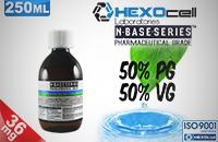 D.I.Y. - 250ml HEXOcell eLiquid Base (50% PG, 50% VG, 36mg/ml Nicotine) εικόνα 1