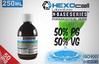 D.I.Y. - 250ml HEXOcell eLiquid Base (50% PG, 50% VG, 50mg/ml Nicotine) εικόνα 1