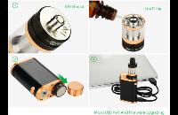 KIT - Eleaf iStick Pico 75W TC Full Kit ( Jet Black & Bronze ) εικόνα 6