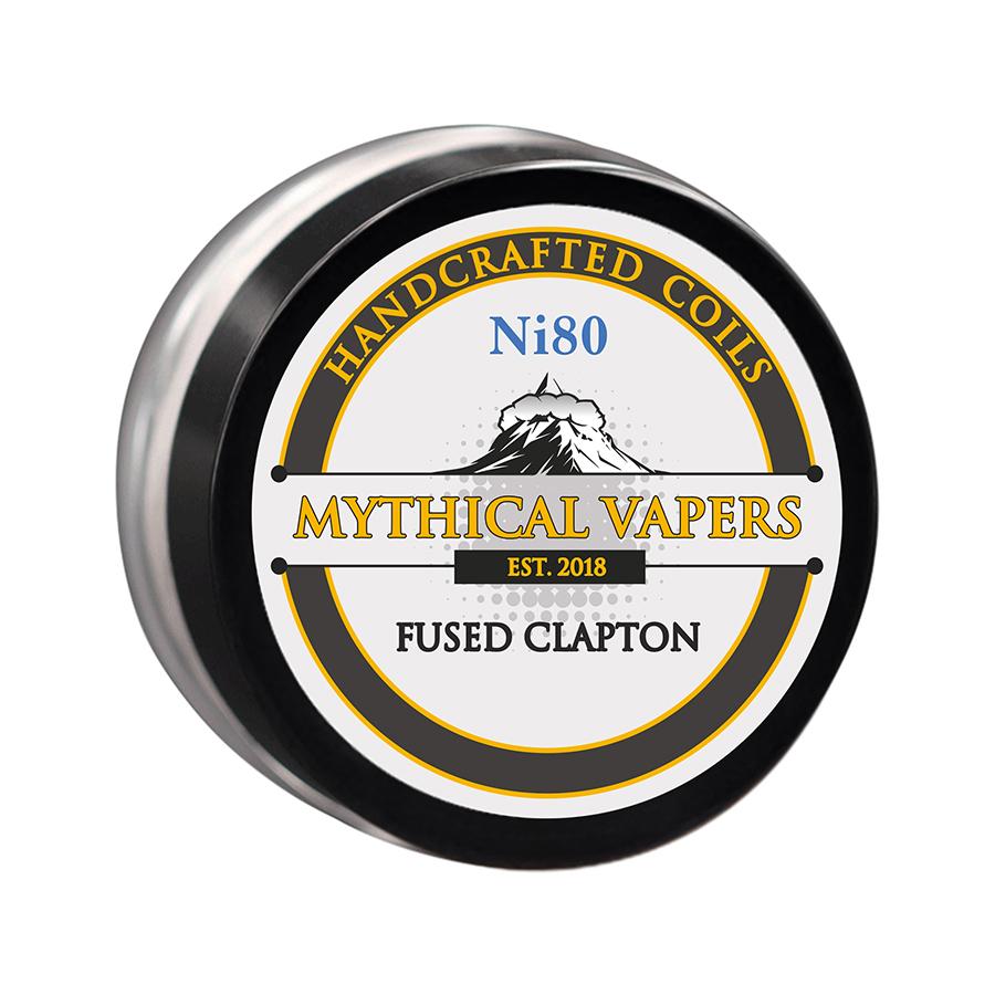 ΑΤΜΟΠΟΙΗΤΗΣ - 2x ΕΤΟΙΜΕΣ ΑΝΤΙΣΤΑΣΕΙΣ MYTHICAL VAPERS ( ΧΕΙΡΟΠΟΙΗΤΕΣ ) - FUSED CLAPTON Ni80 εικόνα 1