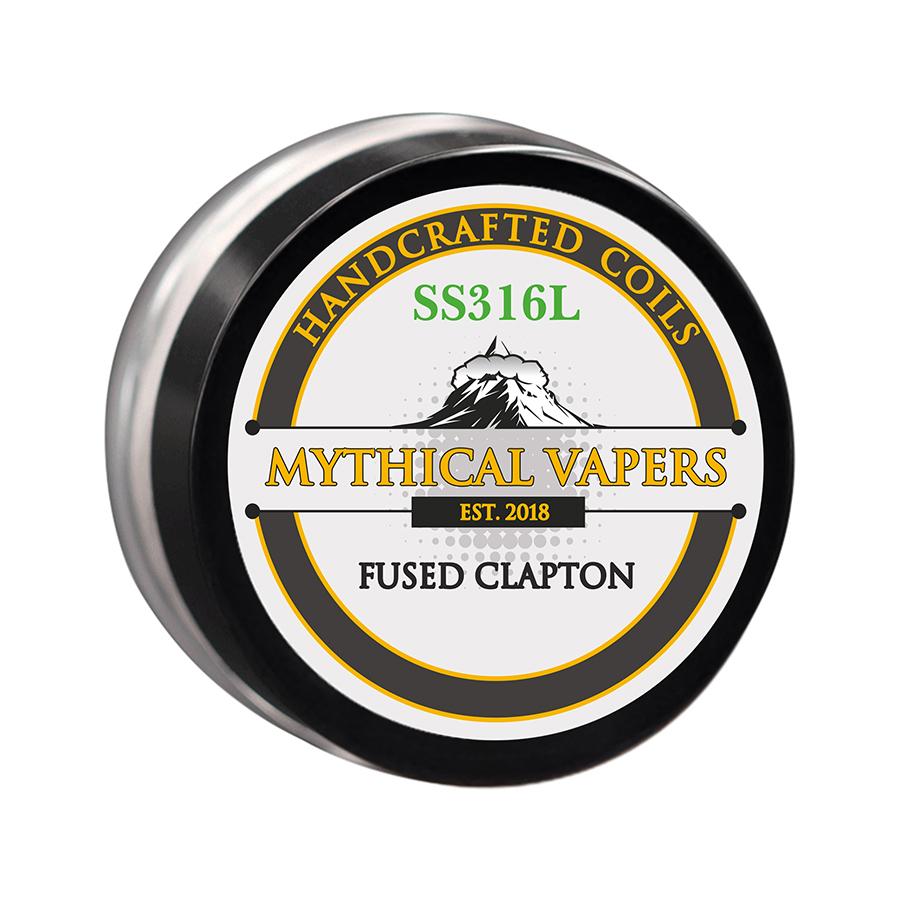 ΑΤΜΟΠΟΙΗΤΗΣ - 2x ΕΤΟΙΜΕΣ ΑΝΤΙΣΤΑΣΕΙΣ MYTHICAL VAPERS ( ΧΕΙΡΟΠΟΙΗΤΕΣ ) - FUSED CLAPTON SS316 εικόνα 1