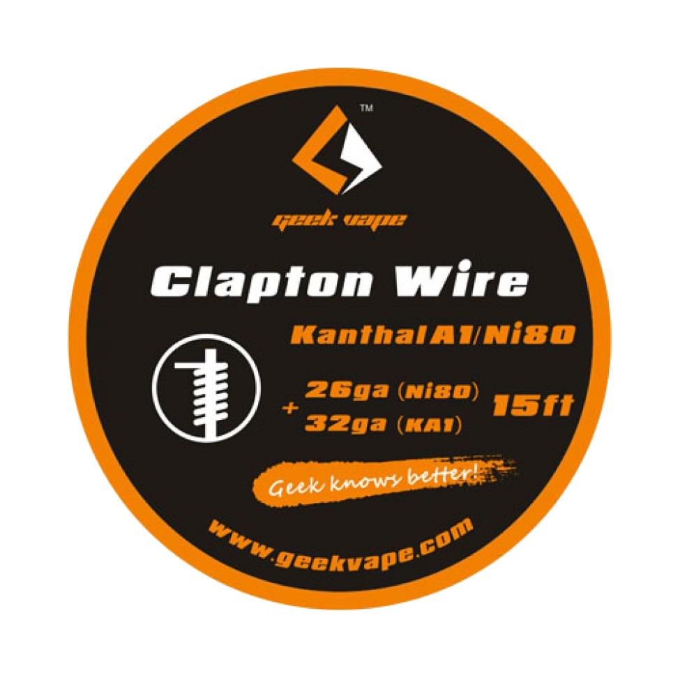 ΑΤΜΟΠΟΙΗΤΗΣ - ΣΥΡΜΑ GEEK VAPE KA1/N80 CLAPTON TAPE WIRE ( 26GA NI80 + 32GA ) - 5M εικόνα 1