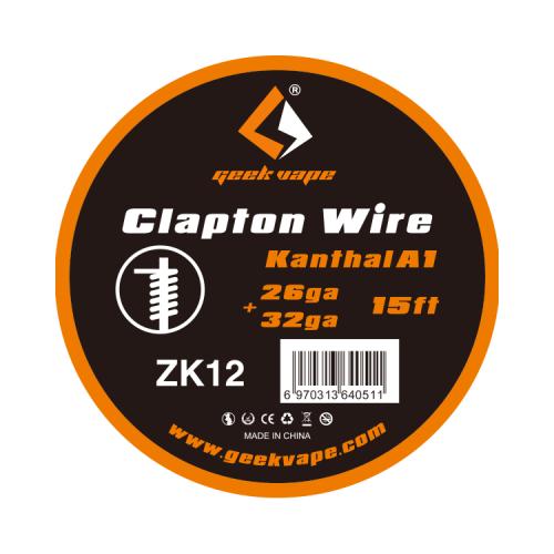 ΑΤΜΟΠΟΙΗΤΗΣ - ΣΥΡΜΑ GEEKVAPE CLAPTON WIRE KANTHAL KA1 ( 26GA + 32GA ) - 5M εικόνα 1
