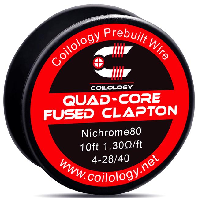ΑΤΜΟΠΟΙΗΤΗΣ - ΣΥΡΜΑ COILOLOGY QUAD-CORE FUSED CLAPTON Ni80 WIRE ( 4x 28GA + 40GA )( 1.3 ohm ) - 3M εικόνα 1