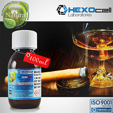100ml CIGAR PASSION 18mg eLiquid (With Nicotine, Strong) - Natura eLiquid by HEXOcell