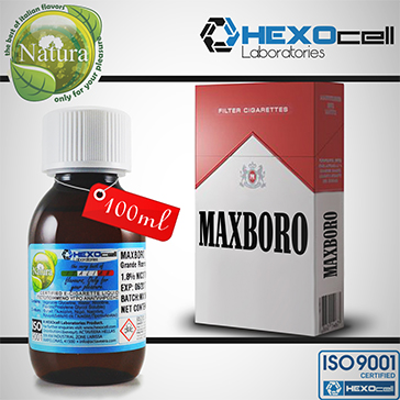 100ml MAXBORO 18mg eLiquid (With Nicotine, Strong) - Natura eLiquid by HEXOcell