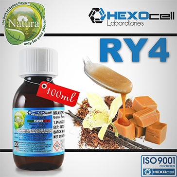 100ml RY4 18mg eLiquid (With Nicotine, Strong) - Natura eLiquid by HEXOcell
