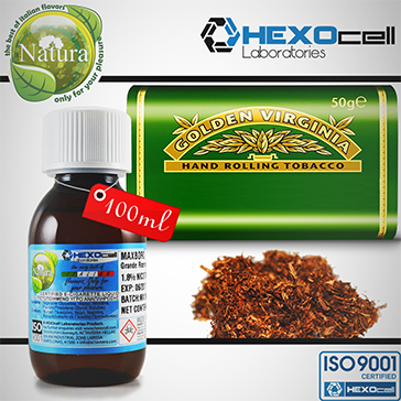 100ml VIRGINIA 18mg eLiquid (With Nicotine, Strong) - Natura eLiquid by HEXOcell
