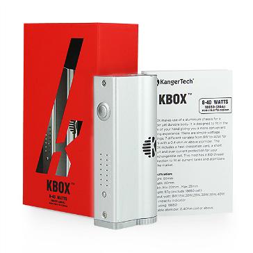 KIT - Kanger KBox 40W Sub Ohm 18650 ( Stainless )