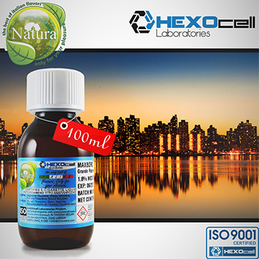 100ml MANHATTAN 18mg eLiquid (With Nicotine, Strong) - Natura eLiquid by HEXOcell