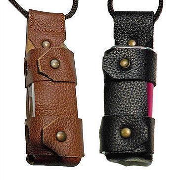 ΑΞΕΣΟΥΆΡ / ΔΙΆΦΟΡΑ - Argo iStick 20W/30W Leather Carry Case with Lanyard ( Black )