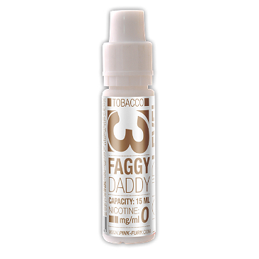 15ml FAGGY DADDY / WESTERN TOBACCO 6mg eLiquid (With Nicotine, Low) - eLiquid by Pink Fury