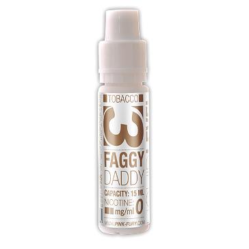 15ml FAGGY DADDY / WESTERN TOBACCO 12mg eLiquid (With Nicotine, Medium) - eLiquid by Pink Fury