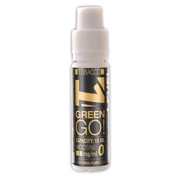15ml GREEN GO / BLACK TOBACCO 12mg eLiquid (With Nicotine, Medium) - eLiquid by Pink Fury