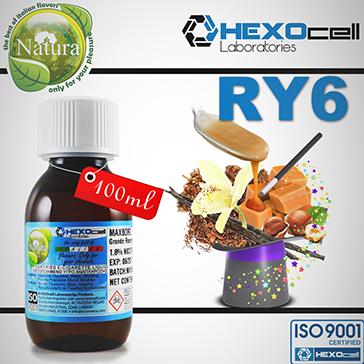 100ml RY6 9mg eLiquid (With Nicotine, Medium) - Natura eLiquid by HEXOcell
