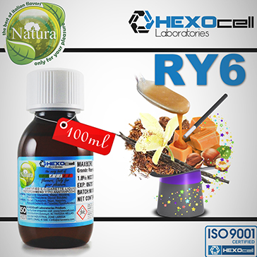 100ml RY6 18mg eLiquid (With Nicotine, Strong) - Natura eLiquid by HEXOcell