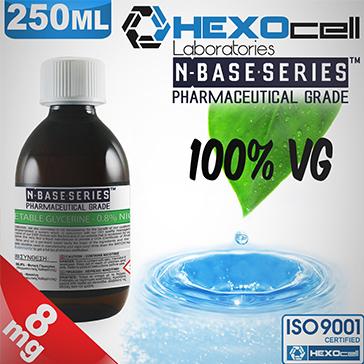 D.I.Y. - 250ml HEXOcell eLiquid Base (100% VG, 8mg/ml Nicotine)