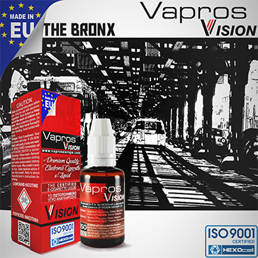 30ml THE BRONX 18mg eLiquid (With Nicotine, Strong) - eLiquid by Vapros/Vision