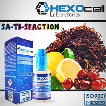 30ml SA-TI-SFACTION 9mg eLiquid (With Nicotine, Medium) - eLiquid by HEXOcell