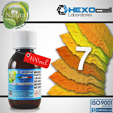 100ml 7 FOGLIE 18mg eLiquid (With Nicotine, Strong) - Natura eLiquid by HEXOcell