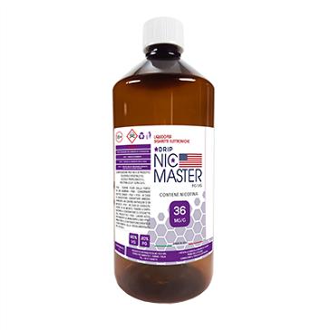 D.I.Y. - 1000ml NIC MASTER Drip Series eLiquid Base (20% PG, 80% VG, 36mg/ml Nicotine)