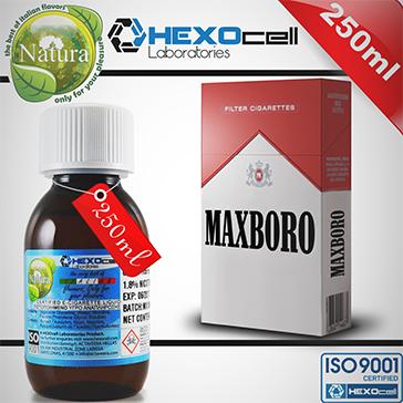 250ml MAXBORO 9mg eLiquid (With Nicotine, Medium) - Natura eLiquid by HEXOcell