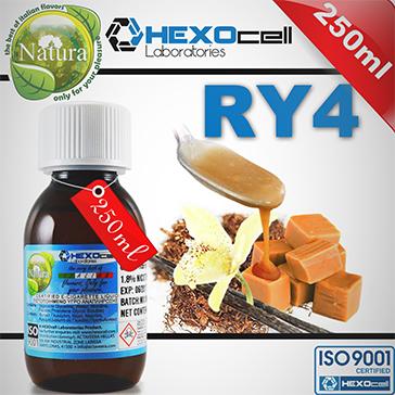 250ml RY4 9mg eLiquid (With Nicotine, Medium) - Natura eLiquid by HEXOcell