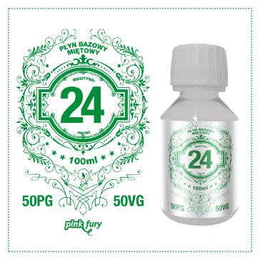 D.I.Y. - 100ml PINK FURY Menthol Base (50% PG, 50% VG, 24mg/ml Nicotine)