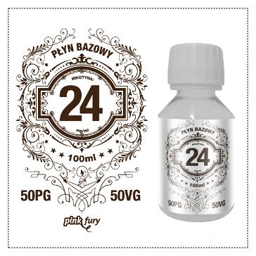 D.I.Y. - 100ml PINK FURY Neutral Base (50% PG, 50% VG, 24mg/ml Nicotine)