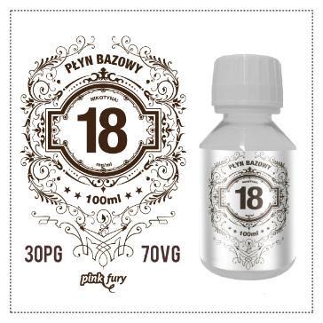 D.I.Y. - 100ml PINK FURY Neutral Base (30% PG, 70% VG, 18mg/ml Nicotine)