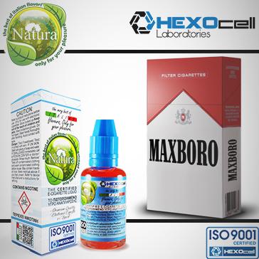 30ml MAXBORO 9mg Υγρό Αναπλήρωσης (Με Νικοτίνη, Μεσαίο ) - Natura Υγρά Αναπλήρωσης από την HEXOcell