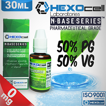 D.I.Y. - 30ml HEXOcell eLiquid Base (50% PG, 50% VG, 0mg/ml Nicotine)