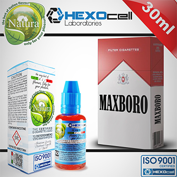 30ml MAXBORO 3mg eLiquid (With Nicotine, Very Low) - Natura eLiquid by HEXOcell