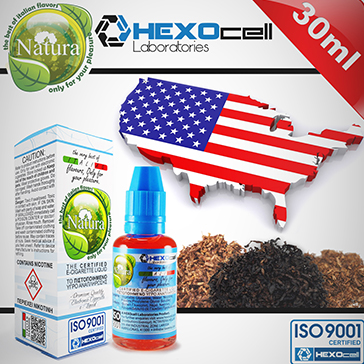 30ml AMERICANO 6mg eLiquid (With Nicotine, Low) - Natura eLiquid by HEXOcell
